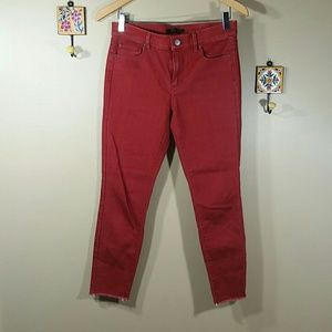 Ann Taylor the skinny red jeans